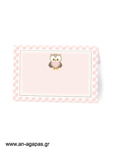 Food Labels Little Owl Pink