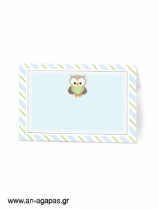 Food Labels Little Owl Blue