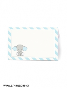 Food Labels Baby Blue Elephant