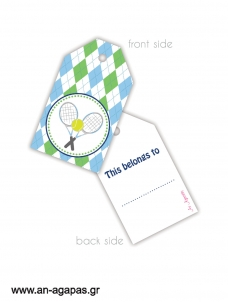 Gift tags Tennis