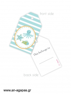 Gift tags Under the Sea