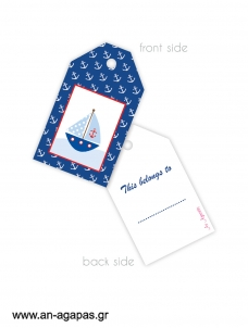 Gift tags Sail Away
