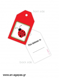 Gift tags Sweet Labybug