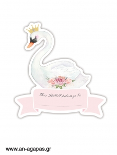 Gift tags Swan