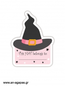 Gift Tags Pink Halloweent