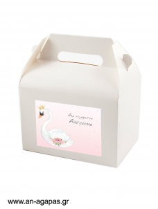 Treat Box Label Swan