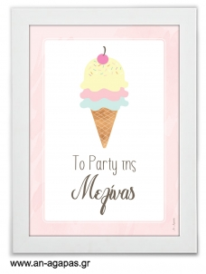Party sign Ice Cream