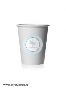 Round Stickers Blue Carousel
