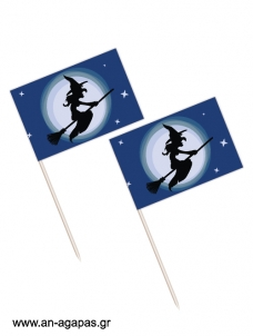 Toothpick flags Halloween