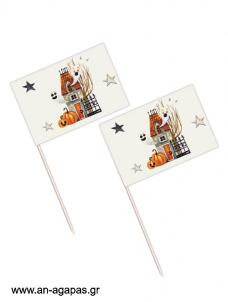 Toothpick flags Βοοο Halloween
