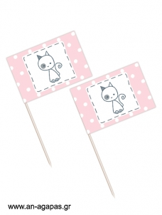 Toothpick flags My Kitty