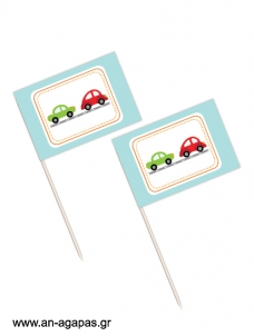 Toothpick flags Vroom Vroom