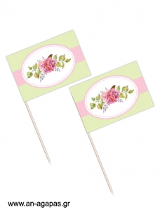 Toothpick flags Bouquetin Green