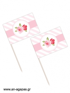 Toothpick flags Blossom in Pink