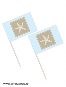 Toothpick flags Blue Starfish