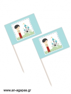 Toothpick flags Prince Charming