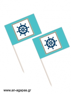 Toothpick flags Caribbean Nautical