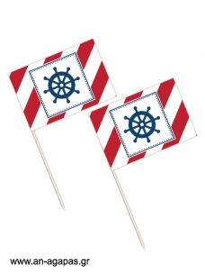 Toothpick flags Red Nautical
