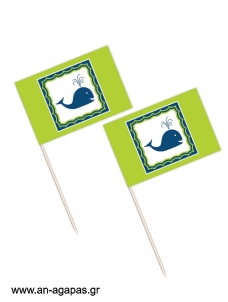 Toothpick flags Whale Boy