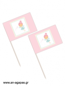 Toothpick flags Pink Fairy
