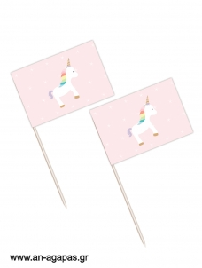 Toothpick flags Unicorn