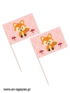 Toothpick flags Woodland Girl