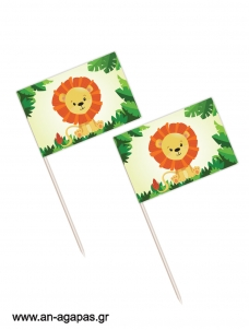 Toothpick flags Jungle Animals