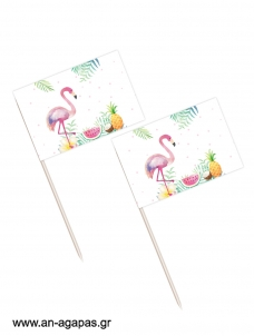 Toothpick flags Tropical Girl