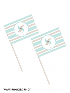 Toothpick flags Pinwheel Blue