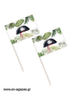 Toothpick flags Jungle Pirates