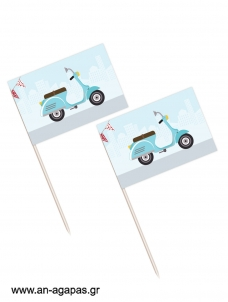 Toothpick flags Vespa