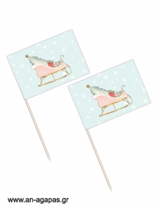 Toothpick flags Mint Sleight Christmas