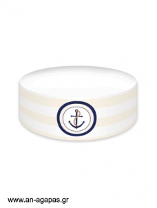 Cake banner Navy Anchor
