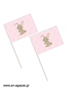 Toothpick flags Funny Bunny Girl