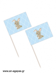 Toothpick flags Funny Bunny Boy