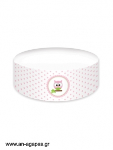 Cake banner Baby Owl Pink