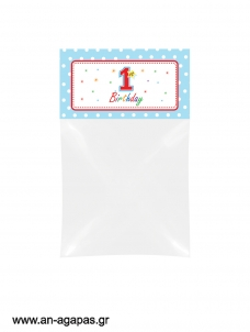 Bag Toppers 1st Birthday Boy