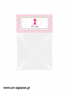Bag Toppers 1st Birthday Girl