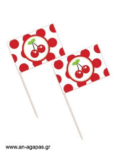Toothpick flags Sweet Cherry