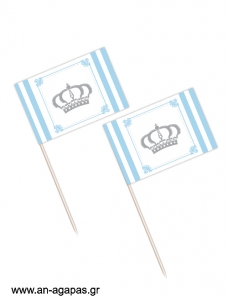 Toothpick flags Royal Crown Boy