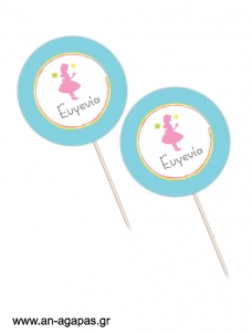 Cupcake toppers Tea Girl