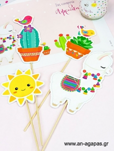 Cupcake Toppers Lama κοπτικό