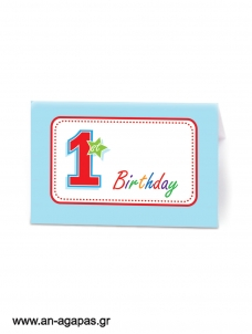 Food labels 1st Birthday Boy