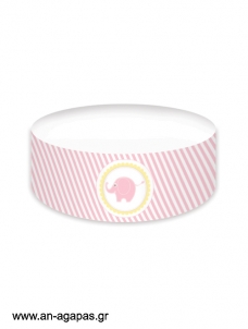 Cake banner Baby Elephant Pink