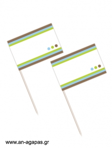 Toothpick flags Bold Dots Boy