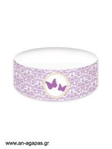 Cake banner Purple Butterflies