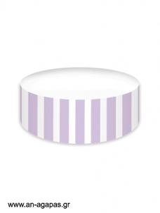 Cake banner Lavender Dots & Stripes