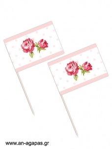 Toothpick flags Garden Flowers