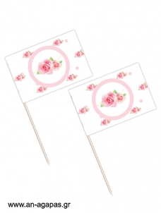 Toothpick flags Pretty Roses