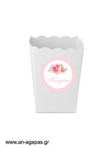 ΑΝ ΑΓΑΠΑΣ – Round stickers Pretty Roses